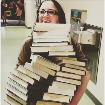Penfield Library Used Book Sale Haul 2019 Stack of Books.jpg