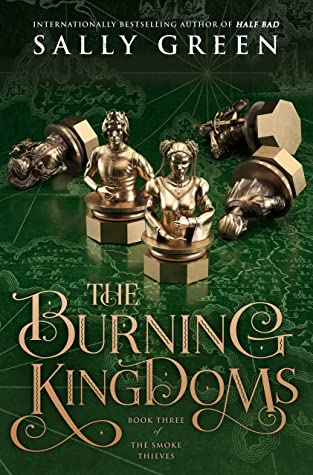 the burning kingdoms by sally green book cover