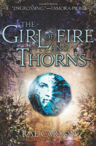 book cover of the girl of fire and thorns for top 5 books with desert settings